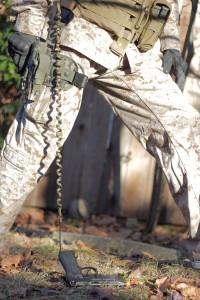 lanyard pistol on ground